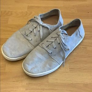 Toms grey perforated suede sneakers